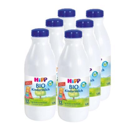 HiPP Bio-Kindermilch trinkfertig ab dem 12. Monat 6 x 1 Liter