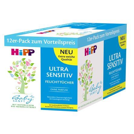 HiPP Babysanft Wet Wipes ULTRA SENSITIVE 12 x 52 wipes
