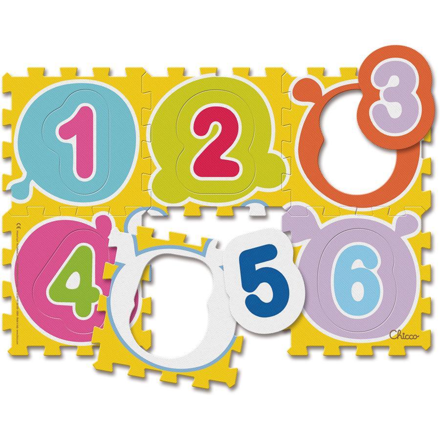 CHICCO Puzzle koberec, čísla, 6 dílů