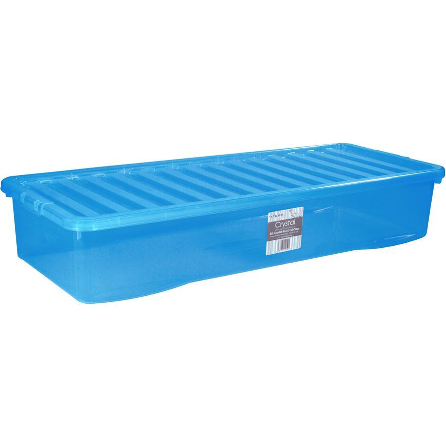 WHAM Unterbettbox mit Deckel 55L, blau