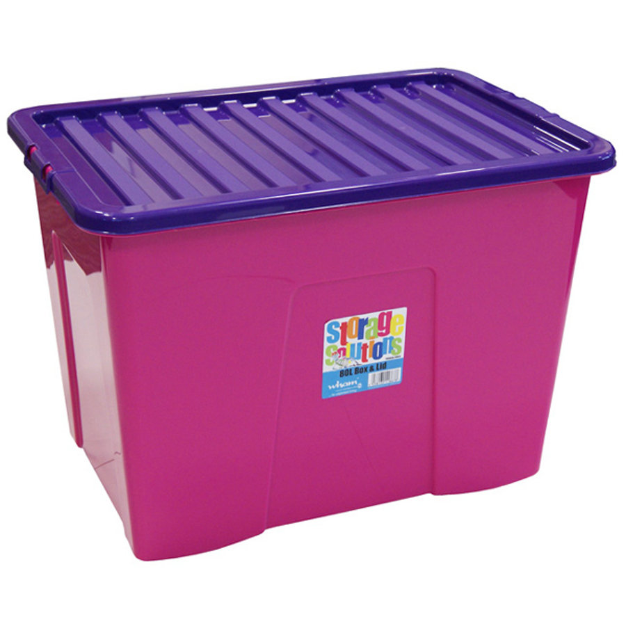 WHAM 80L Box mit Deckel, Pink/Purple