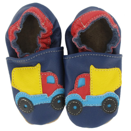 BaBice Kojenecké boty nákladní auto modré