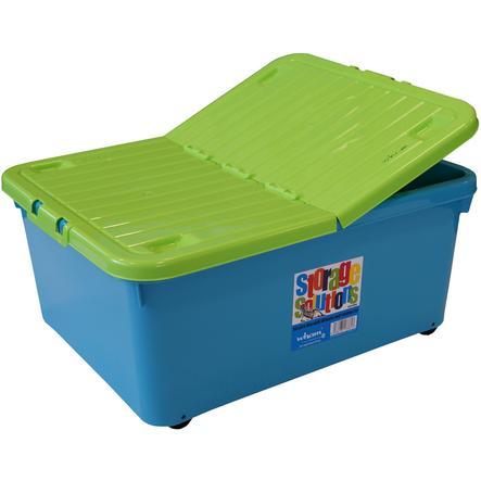 WHAM Rollbox 30L mit Klappdeckel, Blueberry/Lime
