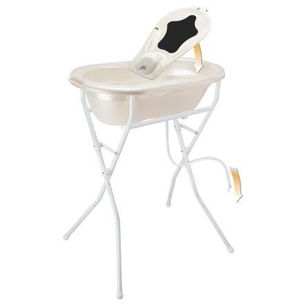 Rotho Set bain baignoire sur pieds bébé TOP 5 pcs. blanc crème nacré
