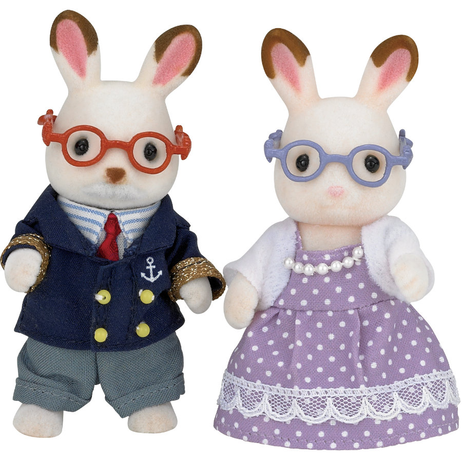 SYLVANIAN FAMILIES Grands Parents Lapin chocolat