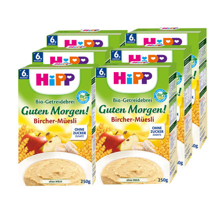 HIPP Bio Cereal Mash Good Morning! Bircher Muesli 6x250g
