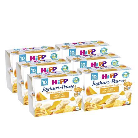 HiPP Bio Joghurt Pause Banane-Mango-Ananas 6 Stück (4 x 100 g)