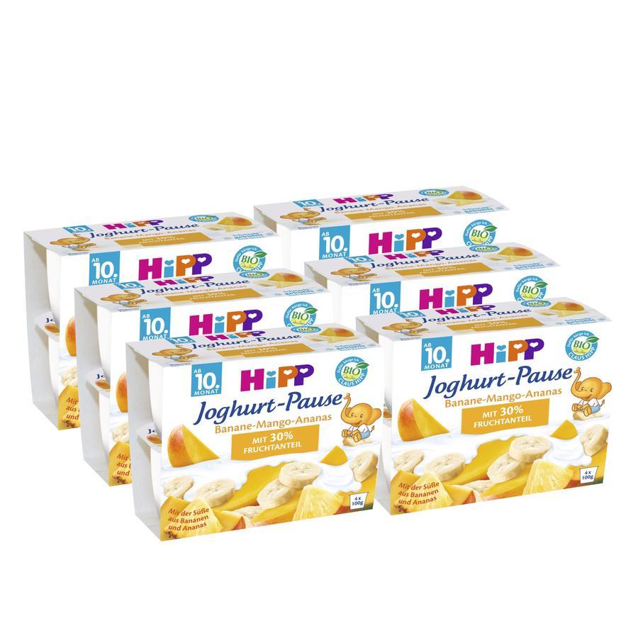 HIPP Bio Yoghurt Banana Mango Pineapple 6 pcs. (4x100g)
