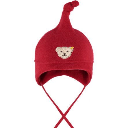 STEIFF Baby Fleece Hat jester red