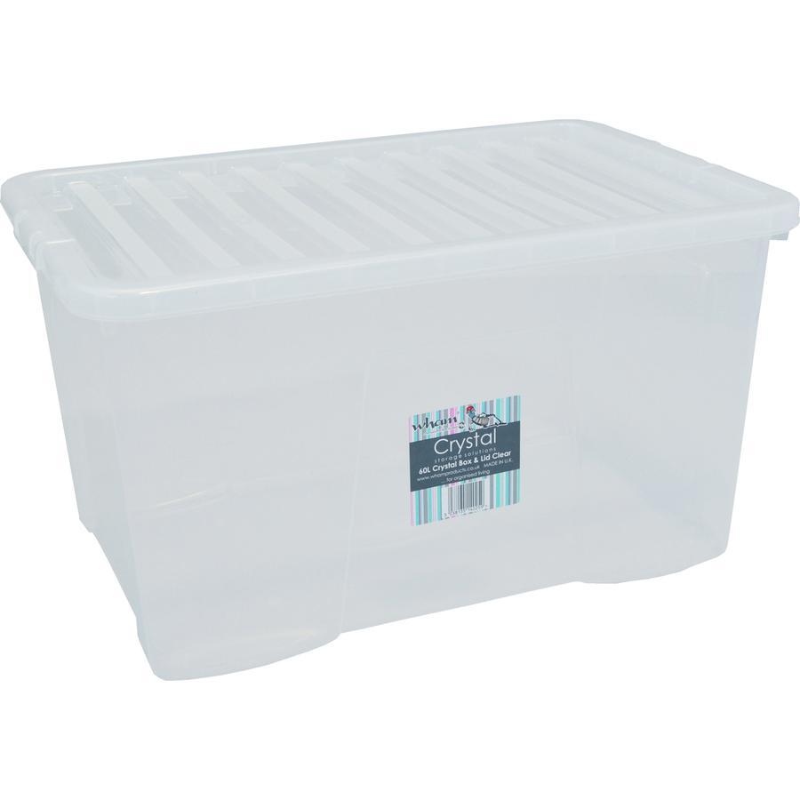 WHAM Crystal 60L Box mit Deckel, Transparent