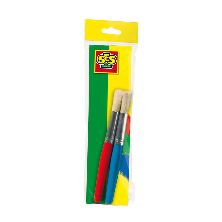 SES Creative® Kinderpinsel dick, 2er Set