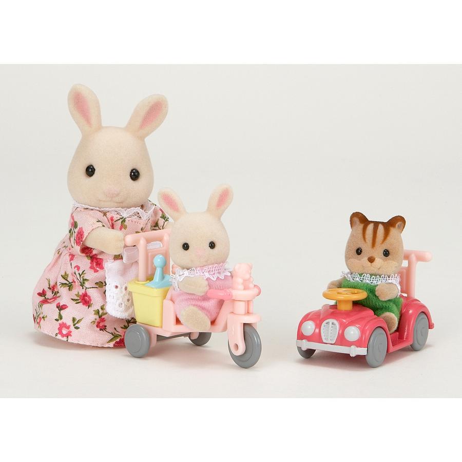 Sylvanian Families® Figurine tricycle et mini voiture bébés 5040