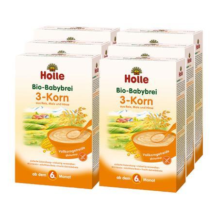 Holle Bio Babybrei 3-Korn 6 x 250g