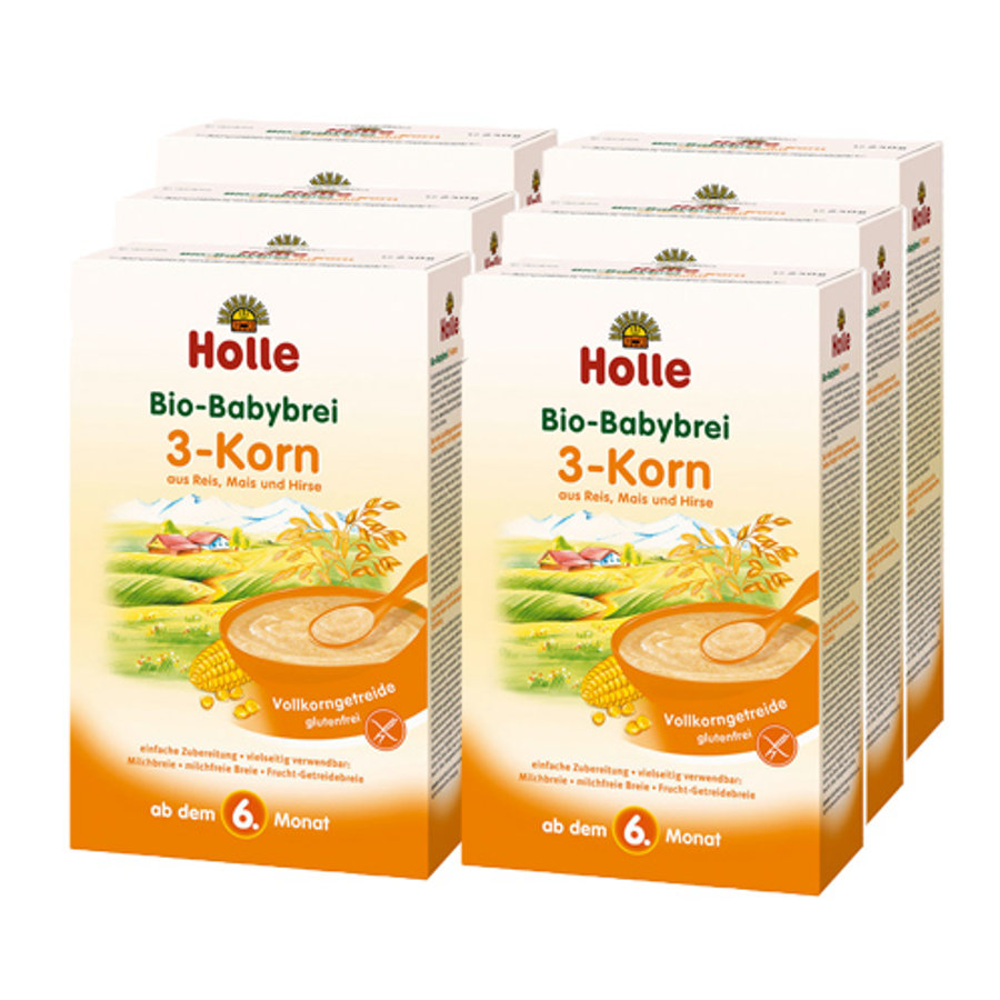 HOLLE Bio Baby Mash 3 Grains 6x250g