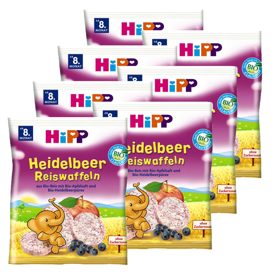 HiPP Reiswaffel Heidelbeer 7 x 35g