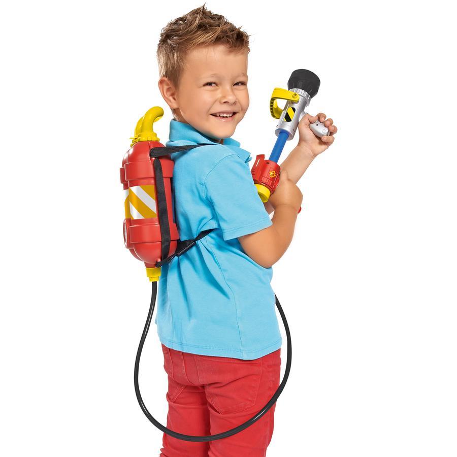 SIMBA Sam le pompier - Pistolet à eau avec recharge sac à dos