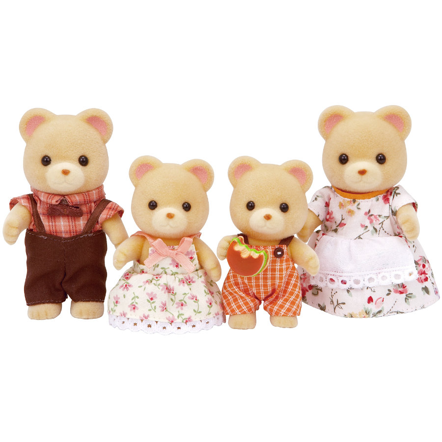 SYLVANIAN FAMILIES Familien - Bären Familie Pelzig