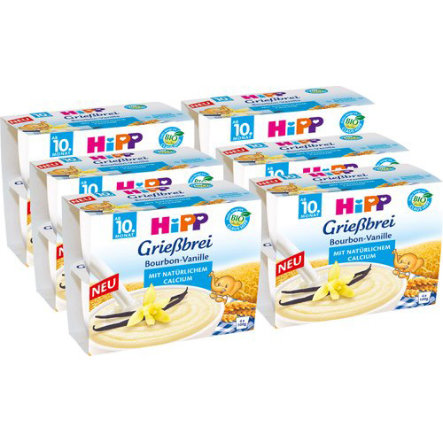 HIPP Bio Grießbrei Bourbon-Vanille 6 Stück (4x100g)
