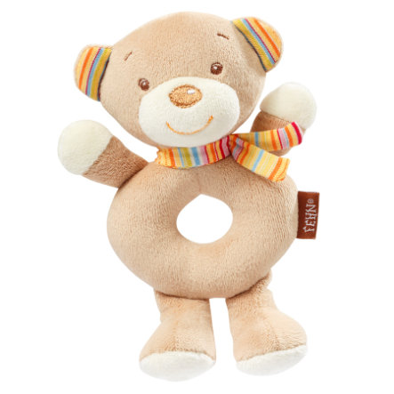 fehn® Ring-Rassel Teddy - Rainbow