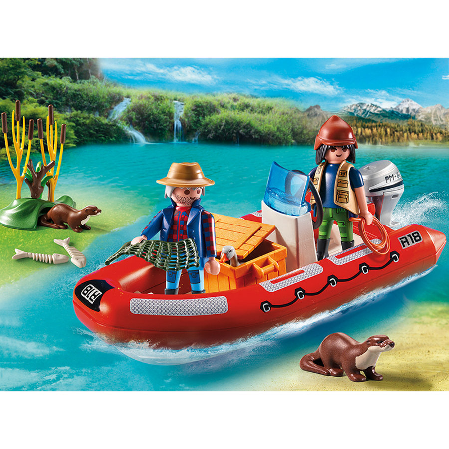 PLAYMOBIL Gommone con esploratori 5559