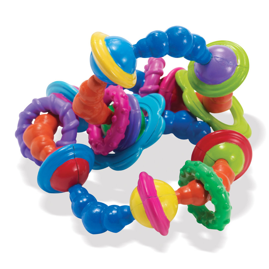 MANHATTAN TOY Whoozit - Grasping Toy Whoozit Twist and Scout Rattle