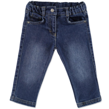 STEIFF Girls Mini Spodnie dżinsowe washed blue denim