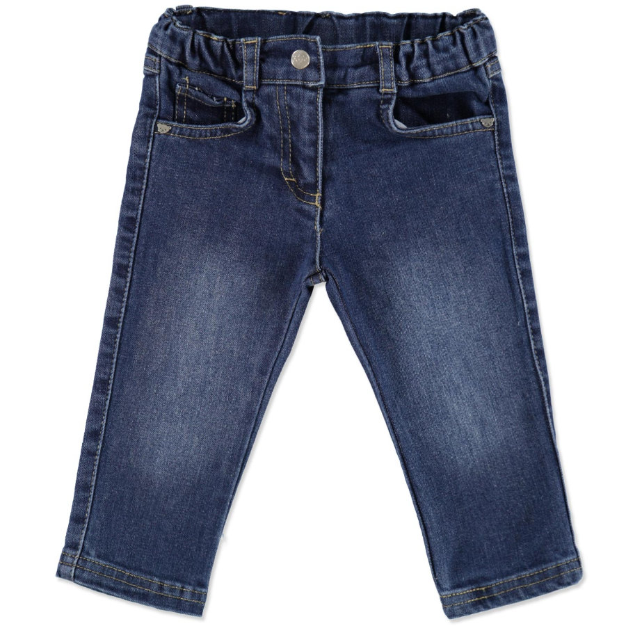 Steiff Girls Jeanshose washed blue denim