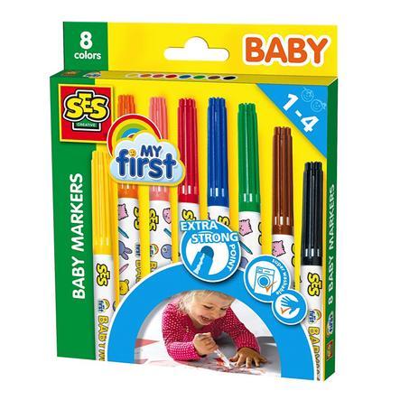 SES CREATIVE Pikkulapsen tussit, 8 väriä