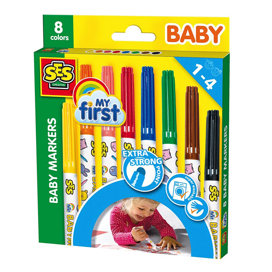 SES Creativ My first Baby Marker, 8 farver