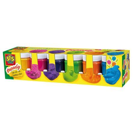 SES Creative plakatfarve trendy, 6 farver pr 50ml