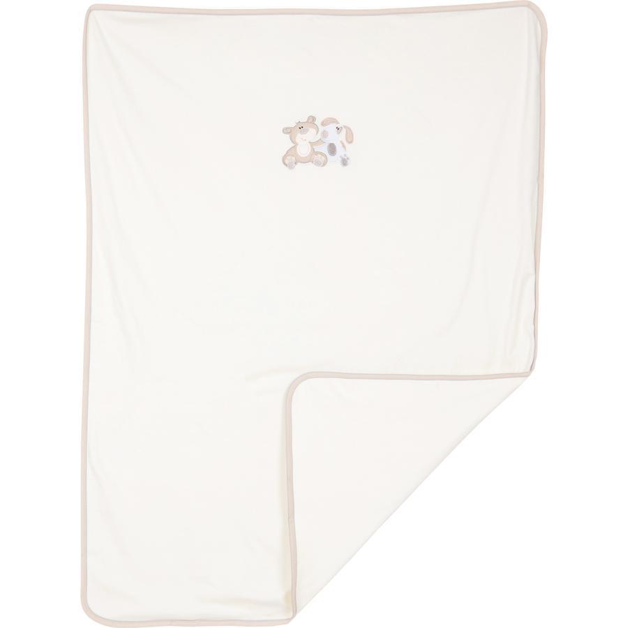 FILLIKID Jersey, dětská deka, medvěd a pejsek, natur, exkluzivně pro Pink or Blue