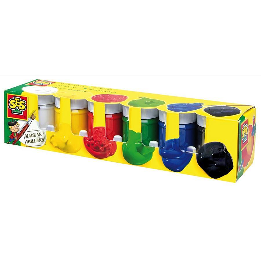 SES Creative® Maalausvärit, 6 väriä