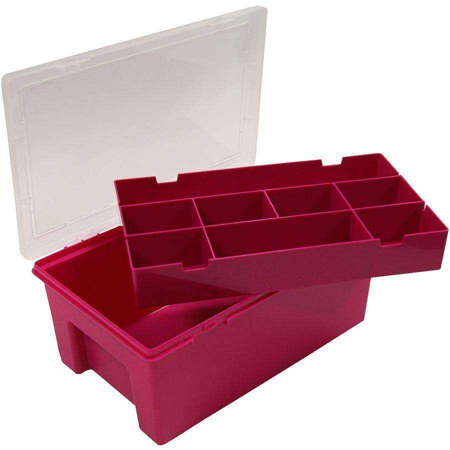 WHAM Schreibtisch-Organizer Fuchsia/Clear
