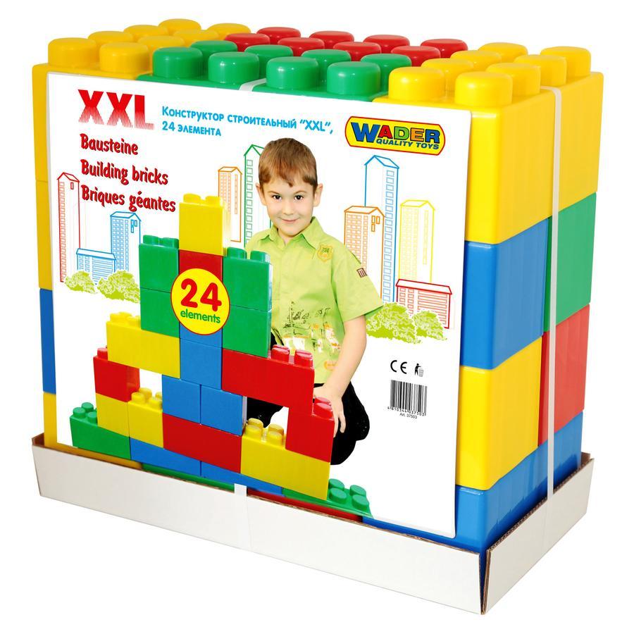 WADER Mattoncini per costruzioni XXL 24 pezzi