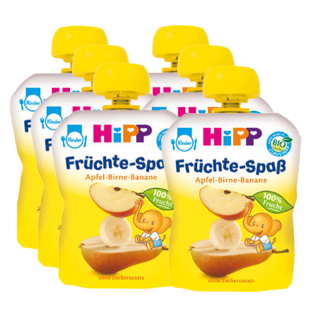 HiPP Bio Früchte-Spaß Apfel-Birne-Banane 6 x 90 g