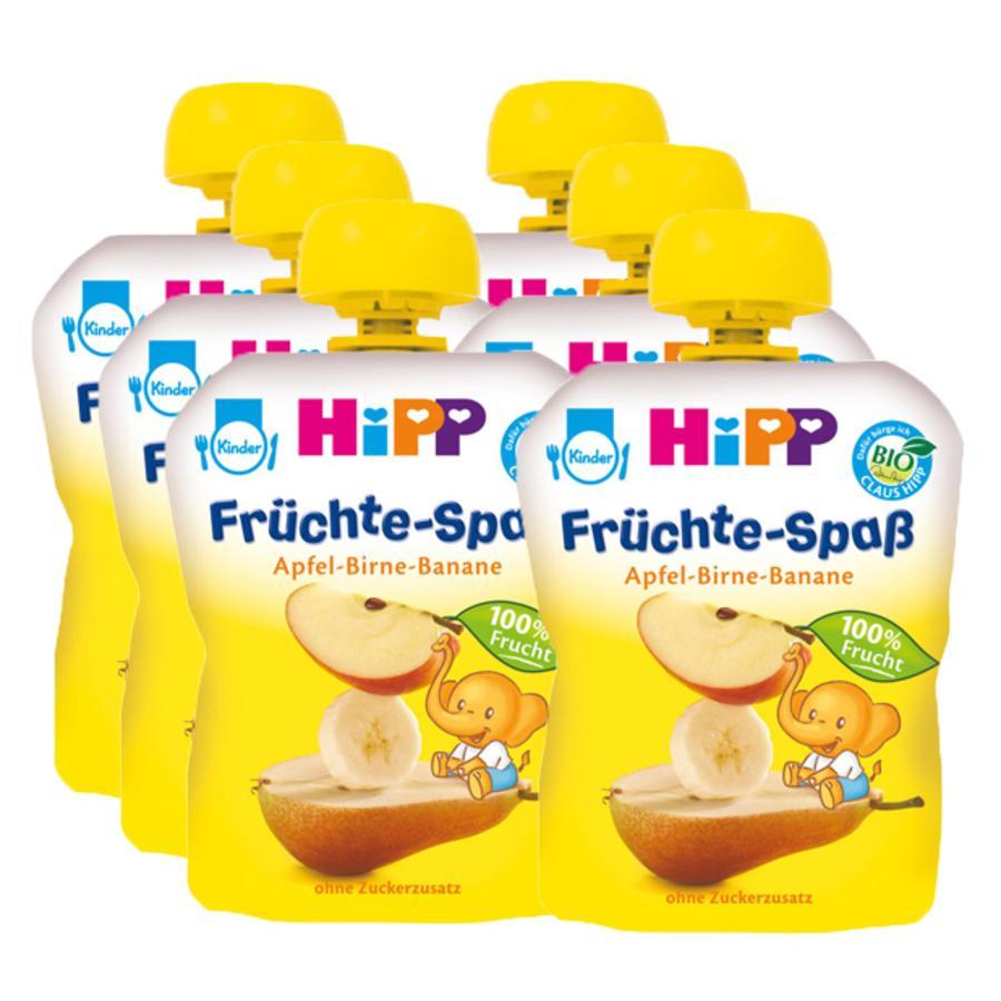 HIPP Bio Früchte-Spaß Apfel-Birne-Banane 6 x 90g