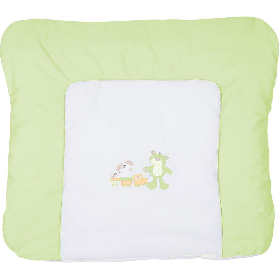 FILLIKID Přebalovací podložka, medvěd a pejsek, zelená, exkluzivně pro Pink or Blue