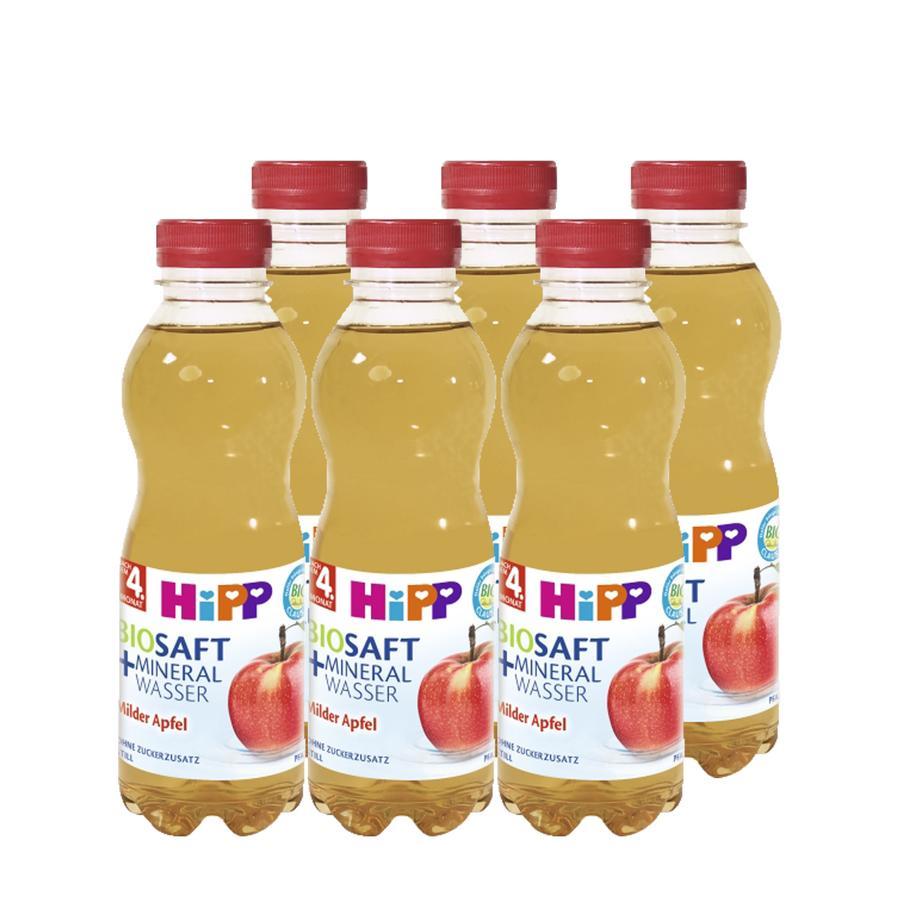 HiPP Bio Juice & Mineral Water Mild Apple  -Still- 6 x 0.5l