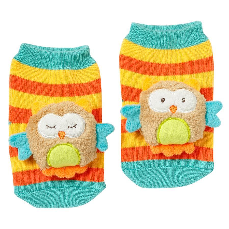 FEHN Chrastící ponožky, sova - Sleeping Forest