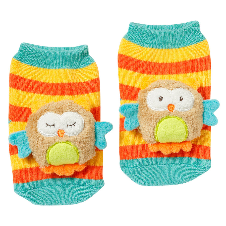 fehn® Rasselsocken Eule Sleeping Forest
