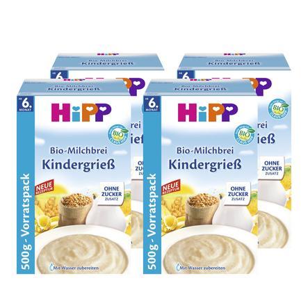 HiPP Bio-Milchbrei Kindergrieß 4 x 500 g ab dem 6. Monat