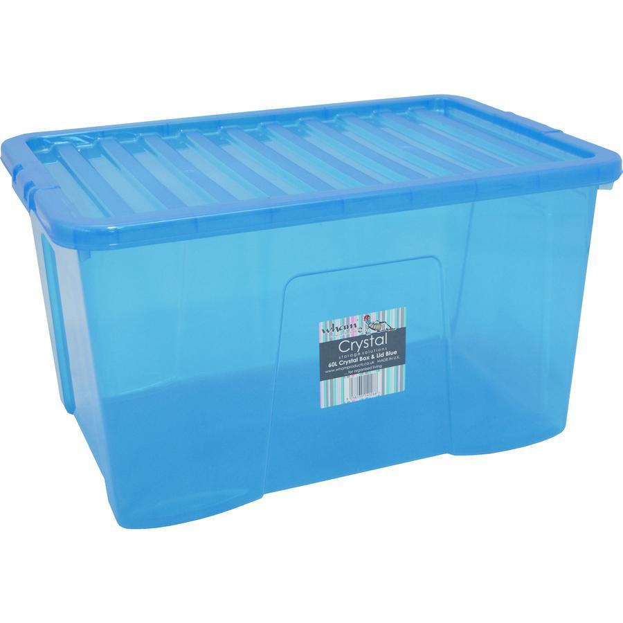 WHAM Crystal 60L  Förvaringslåda med lock, blue