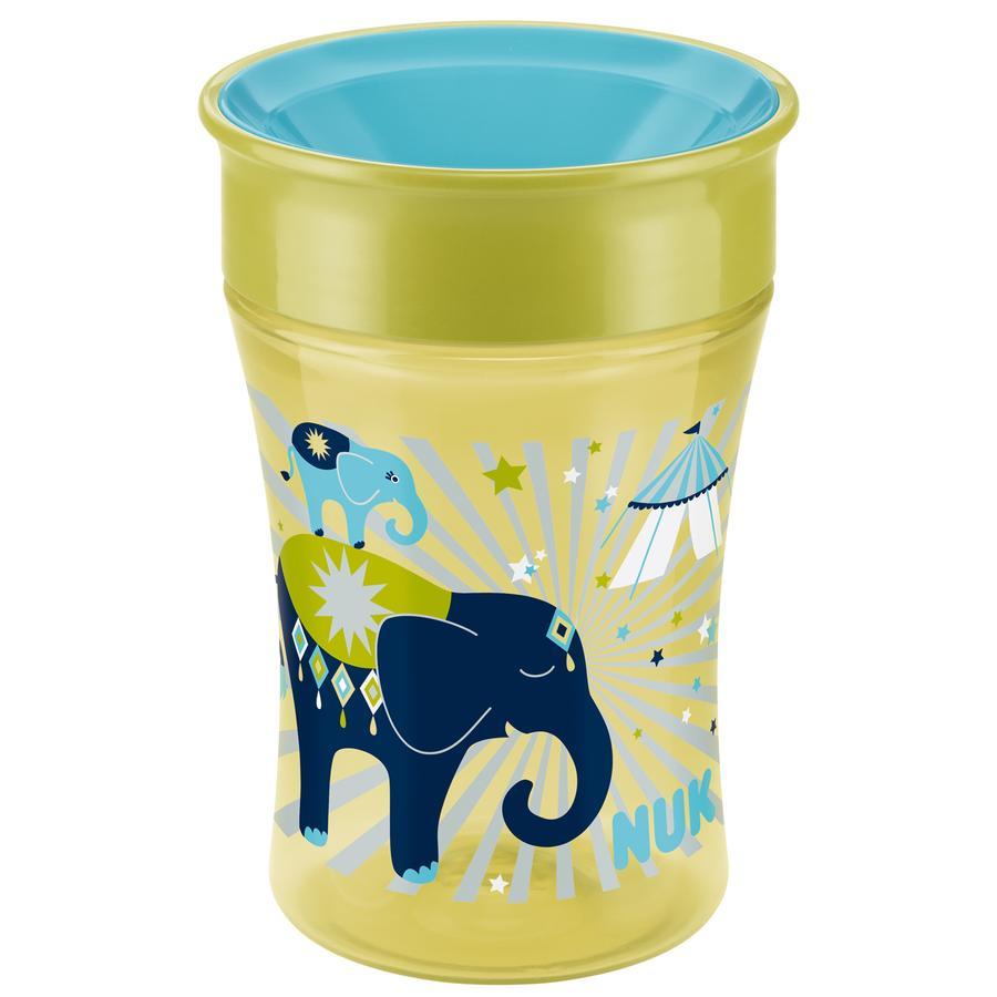 NUK Bicchiere bevimpara Magic Cup 250ml Elefante, color pistacchio