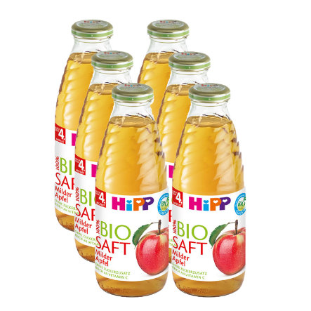 HIPP Bio Juice Mild Apple 6 x 0.5l