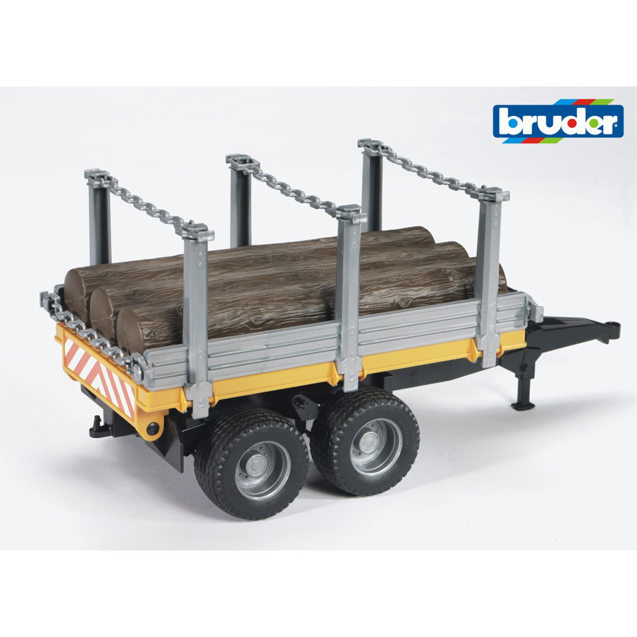 BRUDER®Timber Trailer with 3 Trunks 02213