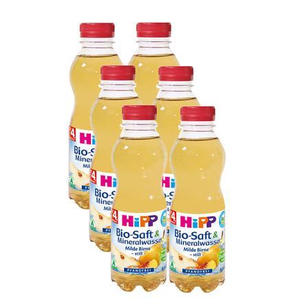 HIPP Bio Saft & Mineralwasser Milde Birne -Still- 6x0,5l