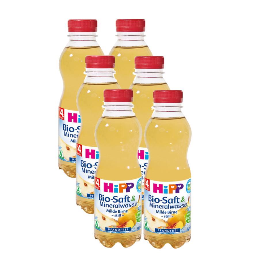HiPP Bio Saft & Mineralwasser Milde Birne -Still- 6 x 0,5 l