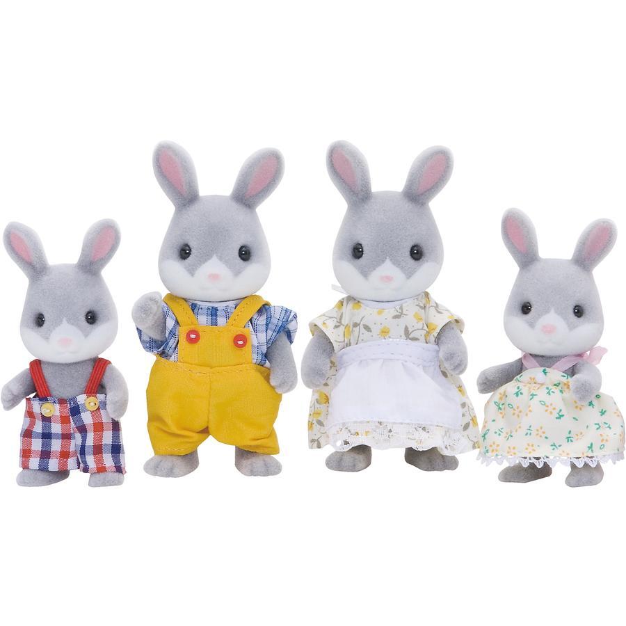 Sylvanian Families® Figurine famille lapin gris 4030