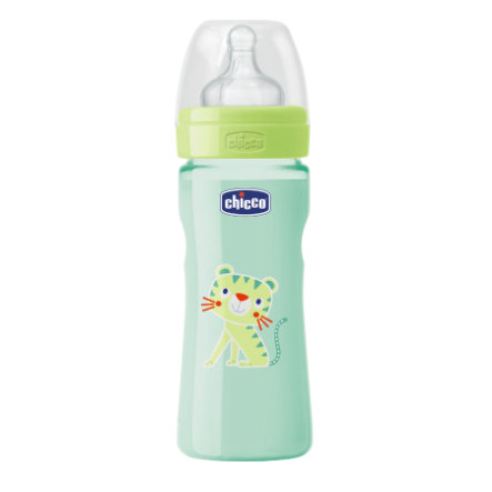 CHICCO Welzijn babyflesje Colored 250ml 2m+ siliconen Neutraal