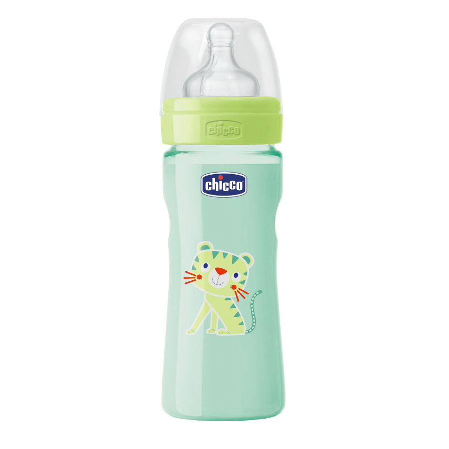 CHICCO Biberon Benessere Colored 250ml 2m+ in silicone Neutral